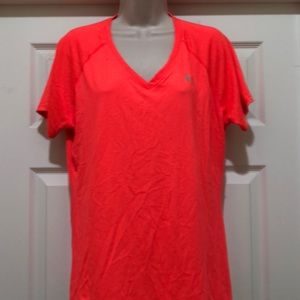 Like New Under Armour  Bright Orange Tee Size XL